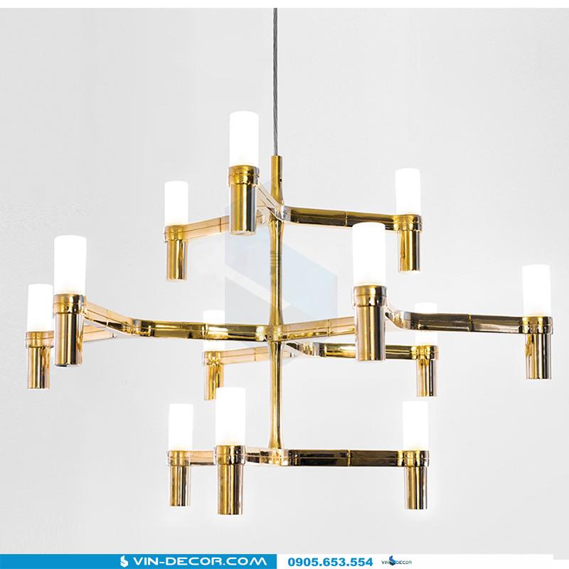 đèn chùm trang trí phòng khách pk 01 hiện đại đẹp