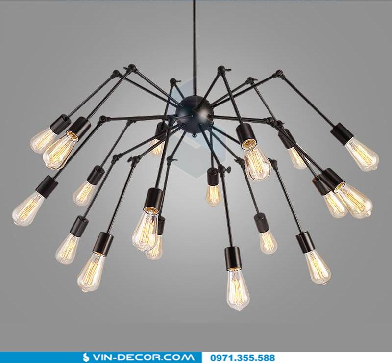 đèn chùm chân nhện spider độc đáo 04