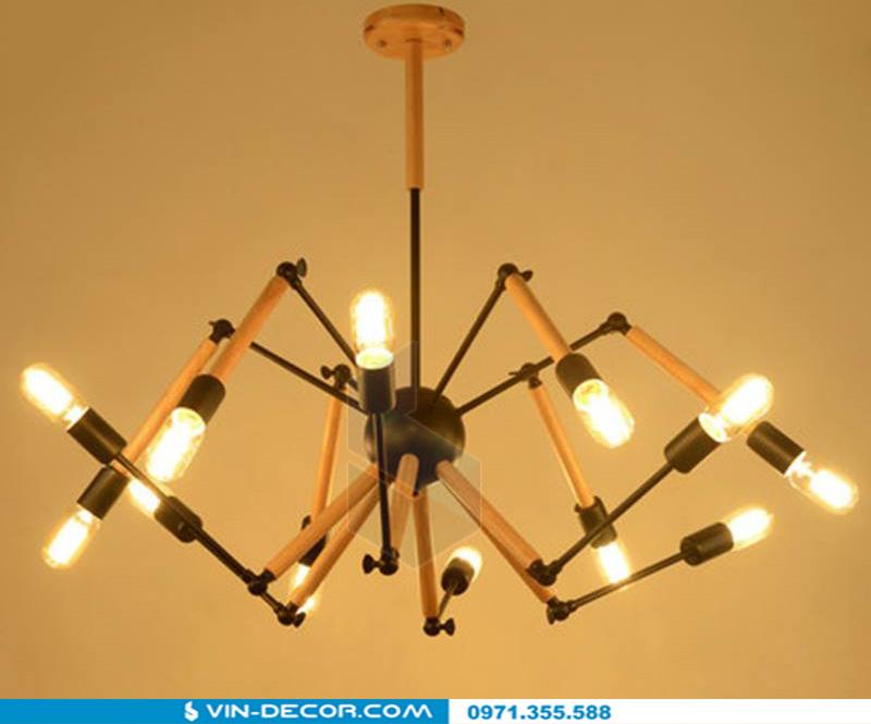 đèn chùm chân nhện spider độc đáo 05