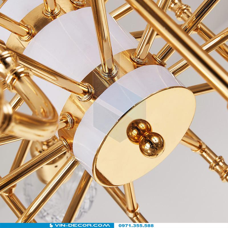 đèn chùm hiện đại mạ vàng đẳng cấp tinh xảo 02