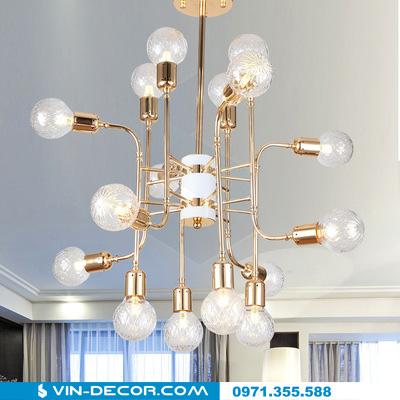 đèn chùm hiện đại mạ vàng đẳng cấp tinh xảo 04