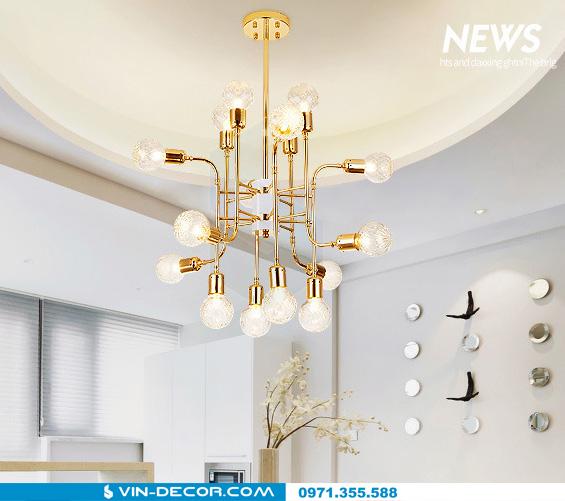 đèn chùm hiện đại mạ vàng đẳng cấp tinh xảo 05