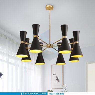 đèn chùm hình loa kèn hiện đại 01