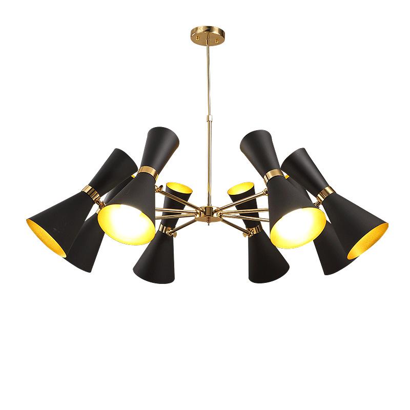 đèn chùm hình loa kèn hiện đại 02