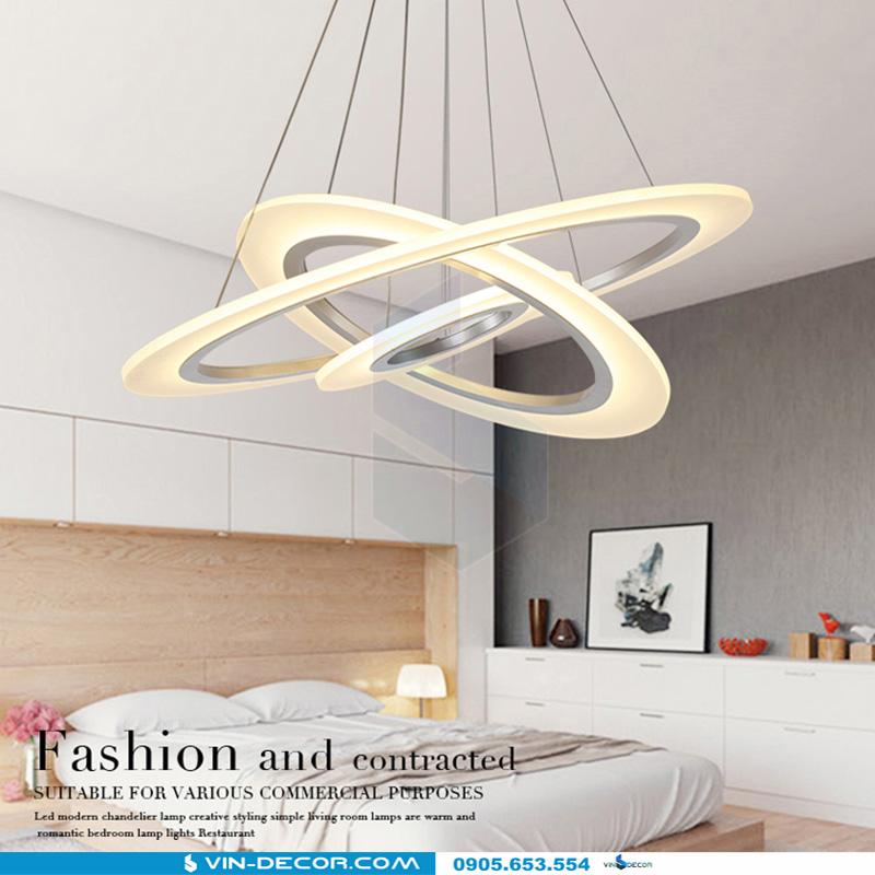 đèn led thả trần hình tròn 3 vòng dl 03 3