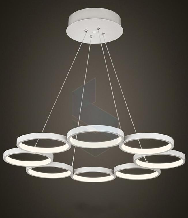 đèn led thả trần hình tròn 8 vòng dl 01 02