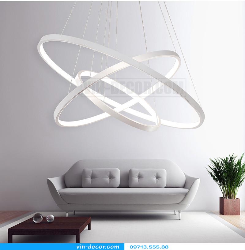 đèn led thả trần hình tròn viền mỏng 03