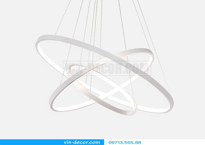 đèn led thả trần hình tròn viền mỏng 04
