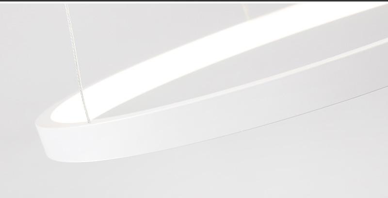 đèn led thả trần hình tròn viền mỏng 06