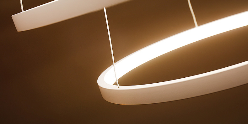 đèn led thả trần hình tròn viền mỏng 07