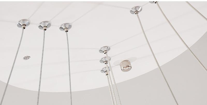 đèn led thả trần hình tròn viền mỏng 08