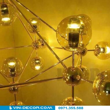 đèn ondoy nordic khung mạ vàng 01