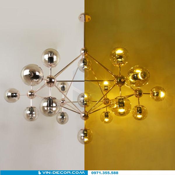 đèn ondoy nordic khung mạ vàng 02