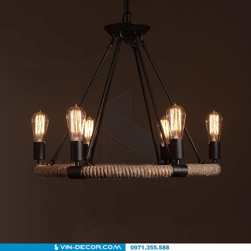 đèn thả dây thừng process 01