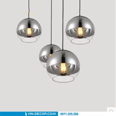 đèn bàn ăn bóng tròn hiện đại 01