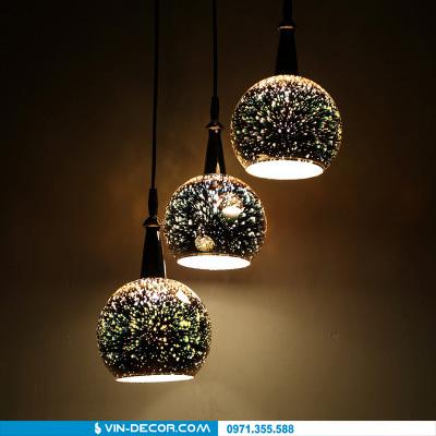 đèn thả bàn ăn 3d độc đáo 01