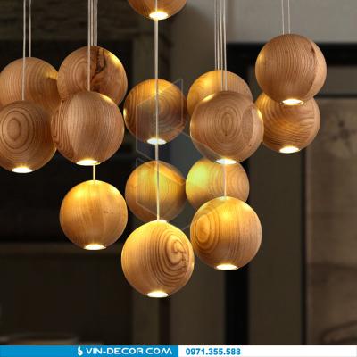 đèn thả quầy bar bocci gỗ 02