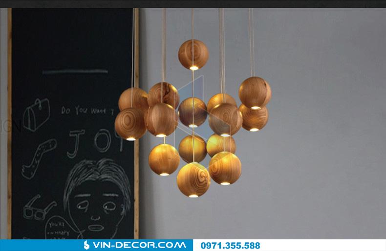 đèn thả quầy bar bocci gỗ 04
