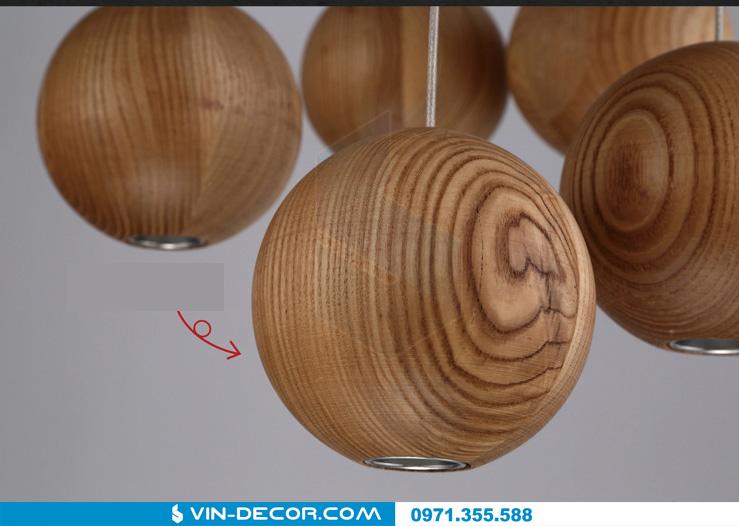 đèn thả quầy bar bocci gỗ 05