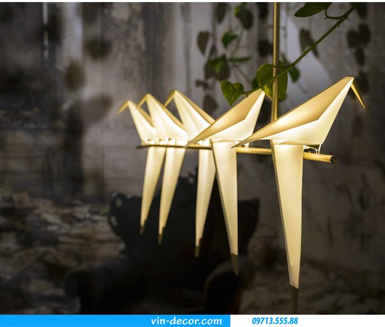 đèn chim trang trí độc đáo 01