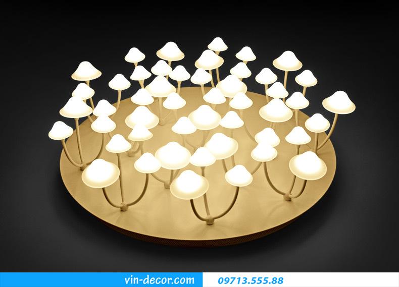 đèn nấm trang trí phòng khách 05