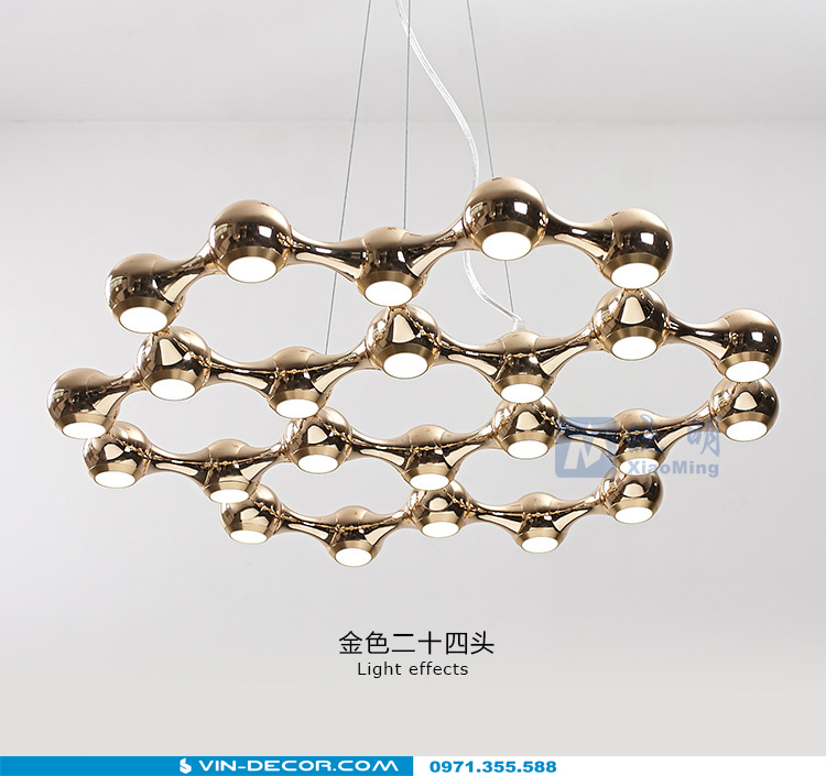 đèn thả trần phòng khách độc đáo 01