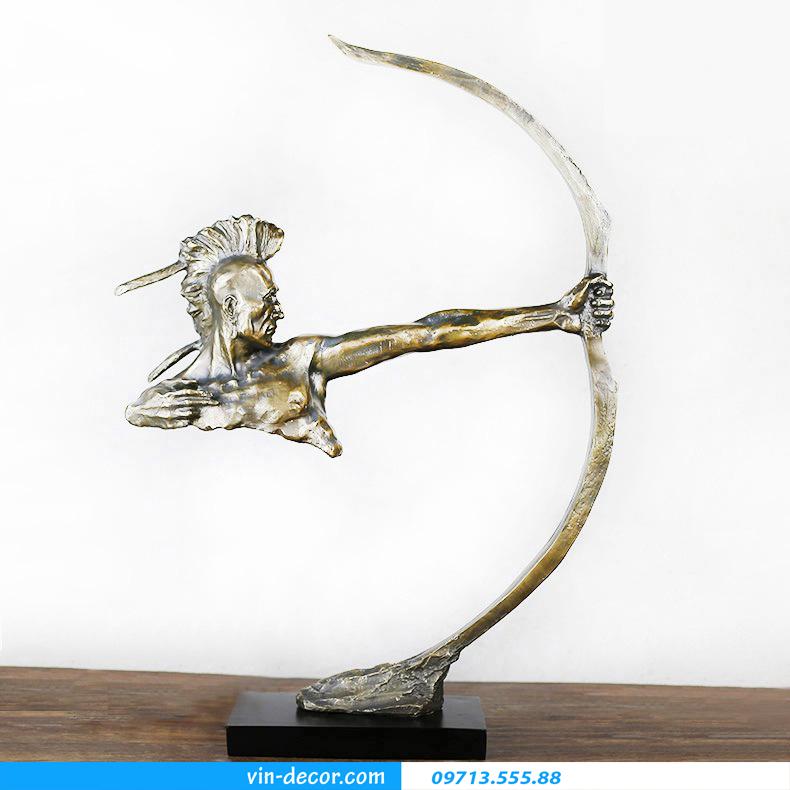 tượng thổ dân da đỏ bắn cung 01