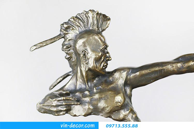 tượng thổ dân da đỏ bắn cung 02