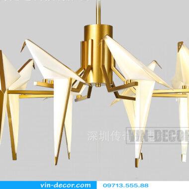 đèn chim trang trí phòng khách độc đáo 01