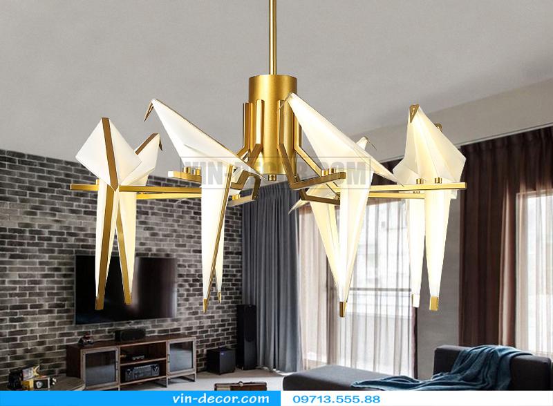 đèn chim trang trí phòng khách độc đáo 04