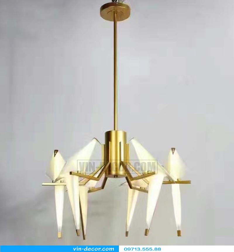 đèn chim trang trí phòng khách độc đáo 06