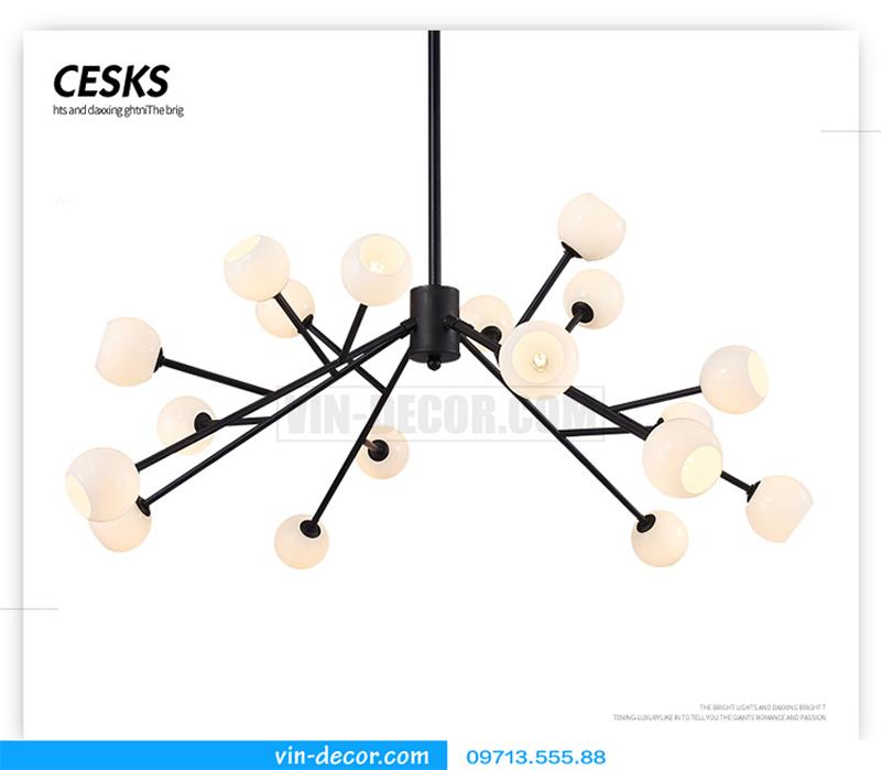 đèn chùm nghệ thuật độc đáo 02