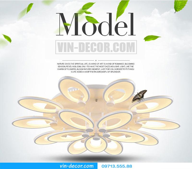 đèn led cánh hoa độc đáo 01