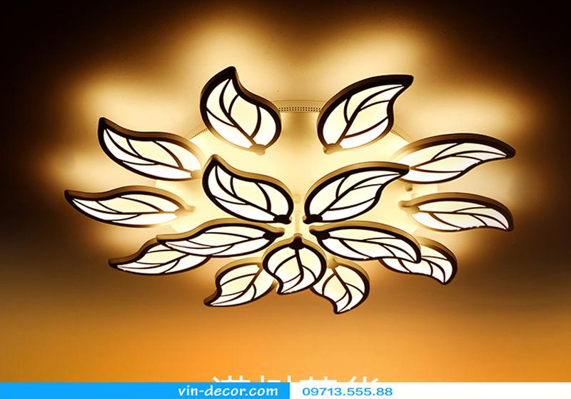 đèn led lá ốp trần độc đáo 03
