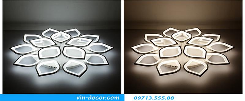 đèn led ốp trần hình cánh hoa 04