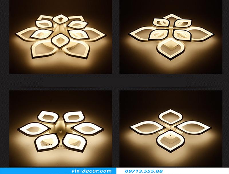 đèn led ốp trần hình cánh hoa 08