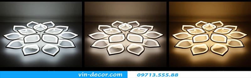 đèn led ốp trần hình cánh hoa 09