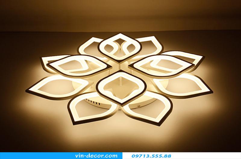 đèn led ốp trần hình cánh hoa 11