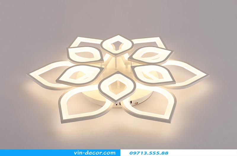 đèn led ốp trần hình cánh hoa 13