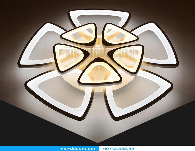 đèn led ốp trần hình lục giác 02