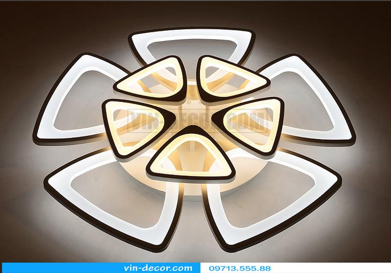 đèn led ốp trần hình lục giác 04