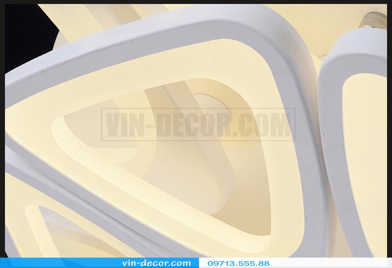 đèn led ốp trần hình lục giác 10