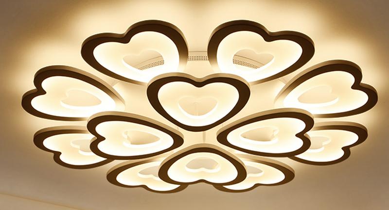 đèn led ốp trần hình trái tim độc đáo 05