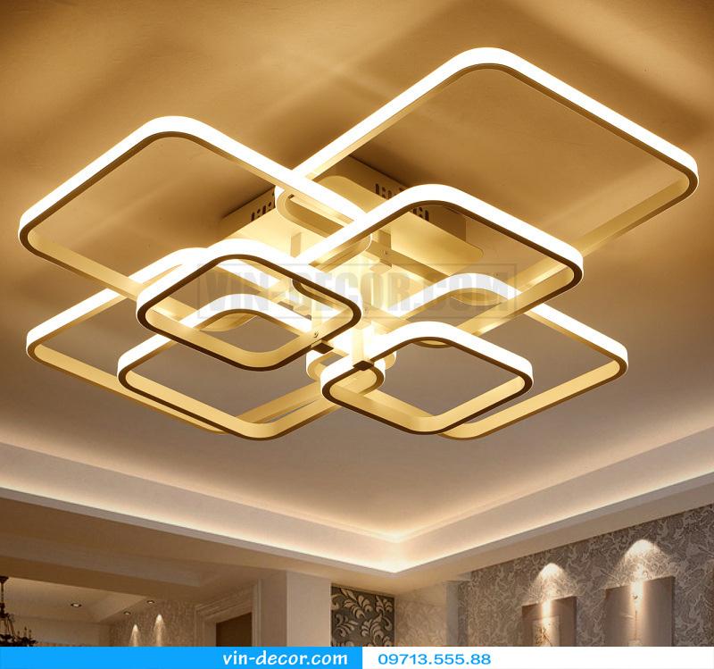 đèn led ốp trần hình vuông ấn tượng 01