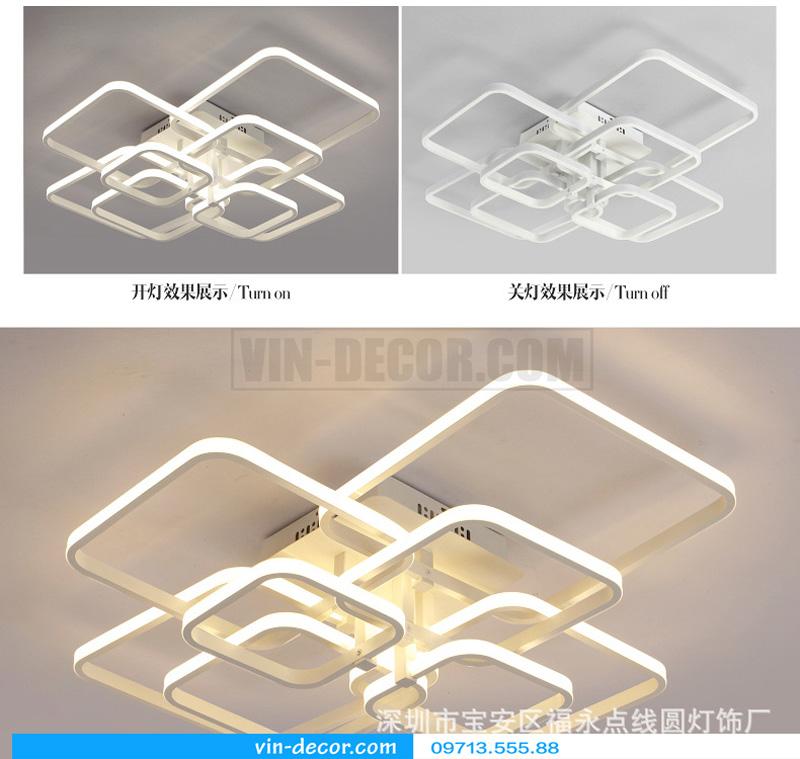 đèn led ốp trần hình vuông ấn tượng 06