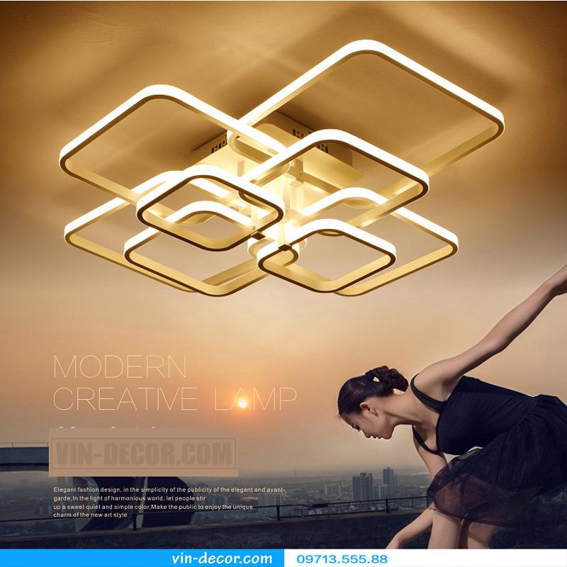 đèn led ốp trần hình vuông ấn tượng 07