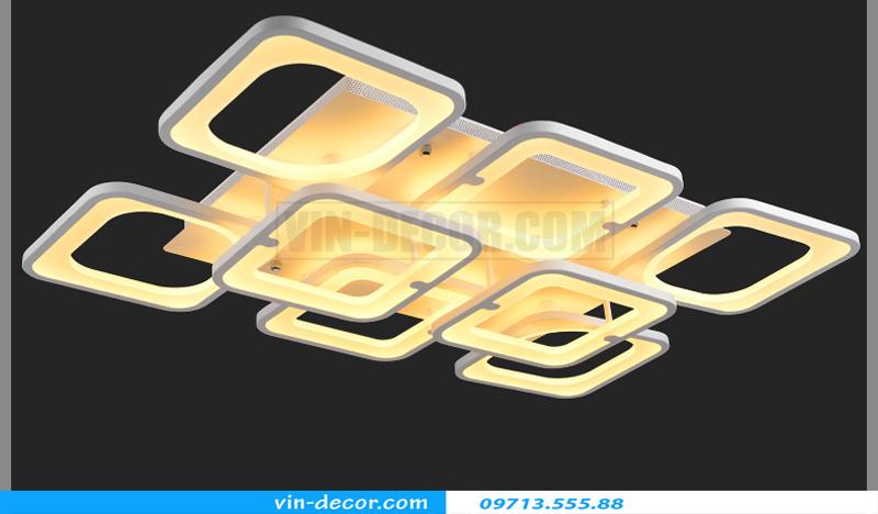 đèn led ốp trần hình vuông độc đáo 01