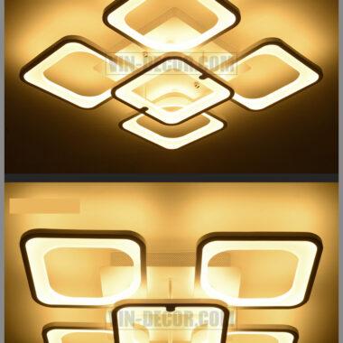 đèn led ốp trần hình vuông độc đáo 09