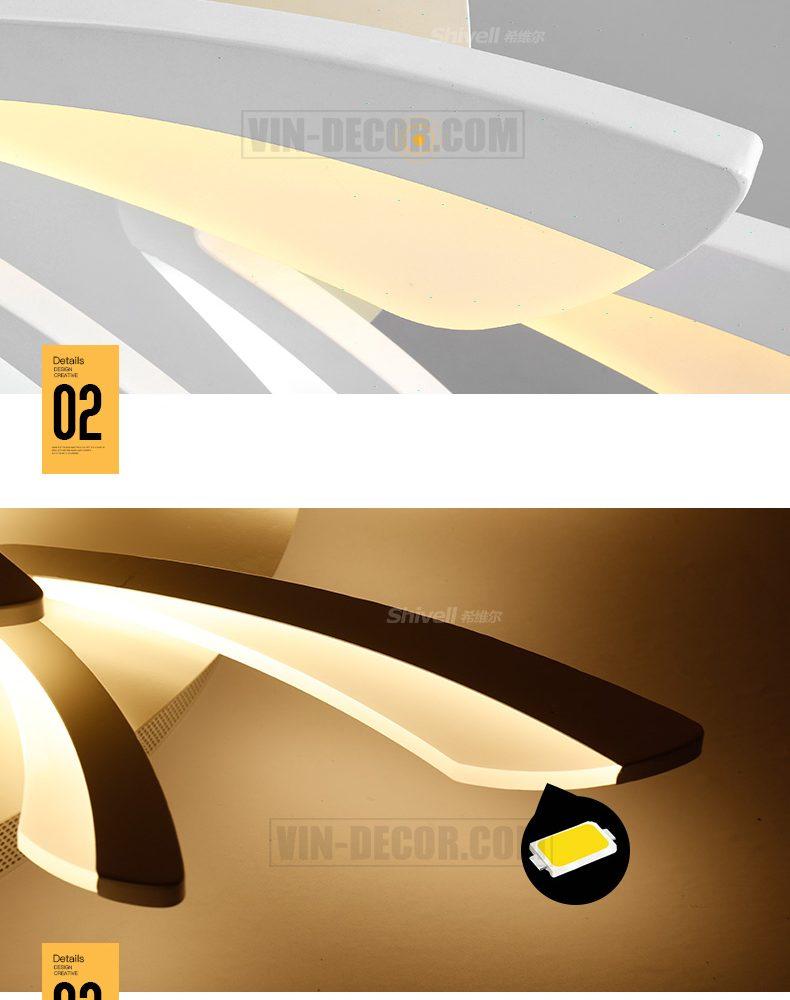 đèn led ốp trần phòng khách độc đáo 06