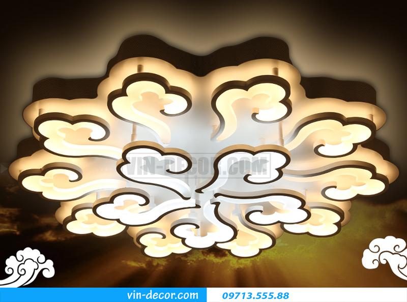 đèn led ốp trần vân mây nghệ thuật 02